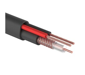 ProConnect Кабель для видеонаблюдения КВК-П-2+2х0,50мм?, 200м., черный, OUTDOOR PROCONNECT